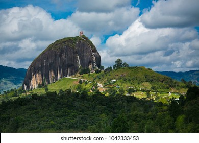 The Peñol stone, at Guatape dam, Antioquia Colombia