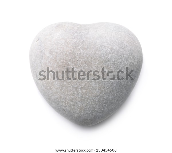 Stone heart isolated on white
