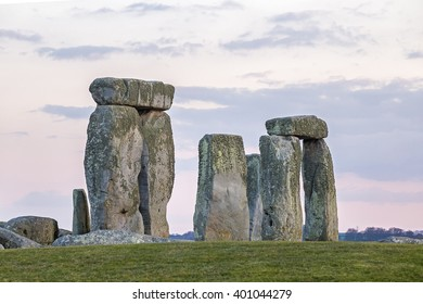 Stone henge, Salisbury plane, england, Stone henge as photograpthed from public property using a telephoto lens during a sunset in 2016