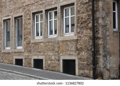 Stone house with windows