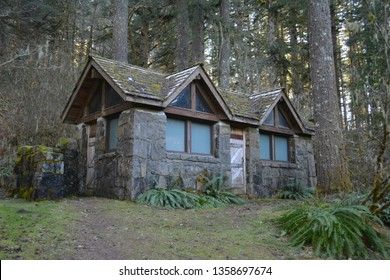 Stone House in Woods