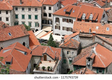 stone houses and buildings Kotor town Montenegro
