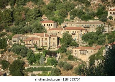 stone houses of Karitena mountain village, Greece