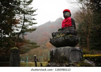 Stone Jizo statues in Nikko (Japan)