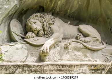 Stone Lion Monument Lucerne Switzerland
