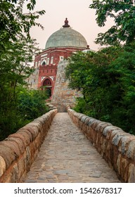The stone made Ancient bridge to The Tomb of Ghiyas al-Din Tughluq or Ghazi Malik ,the founder of the Tughluq dynasty in India, who reigned over the  Sultanate of Delhi from 1320 to 1325.