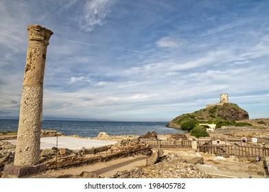 stone made sardinia roman castle nuraghe