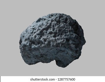 Stone meteorite from space on an isolated background