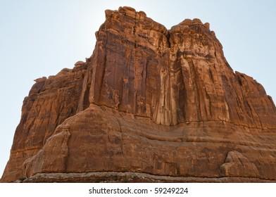 Stone monoliths, Arches National Park, Moab, Utah