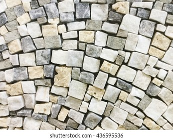 Stone mosaic art and abstract wall background