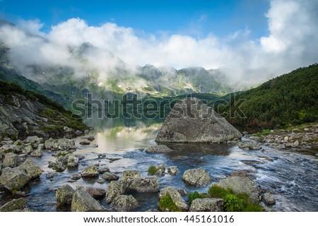 Stone Mountain Lake Five Lakes Valley Stock Photo Edit Now