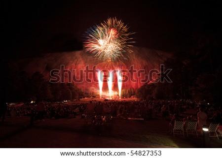 stone mountains park georgia fireworks laser stock photo edit now