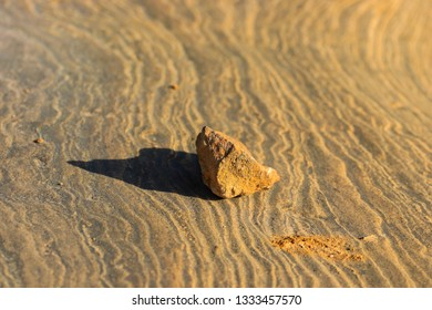 Stone on a lage. Background texture