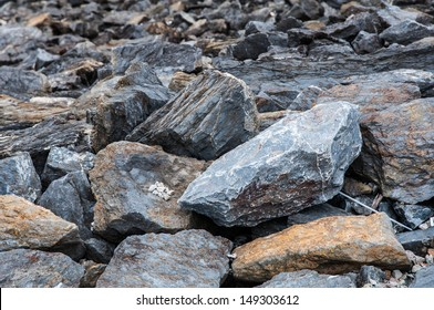 Stone on the mountain nature background
