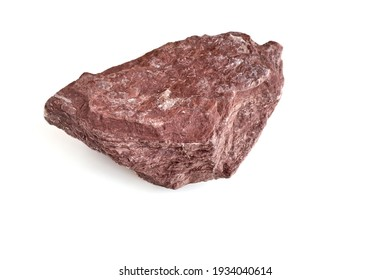 Stone on white background, geological science