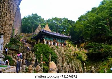 Stone pagodas at Tapsa Temple, South Korea