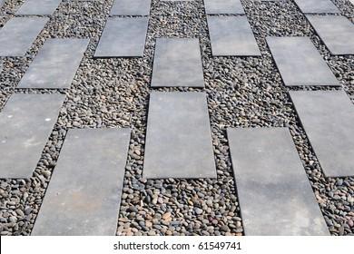 Stone Path on pebbly