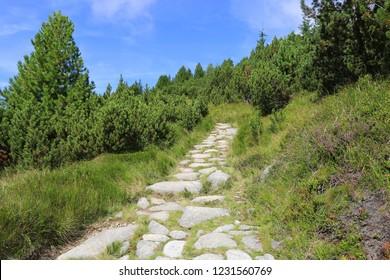stone pathway in mountains, Slovakia