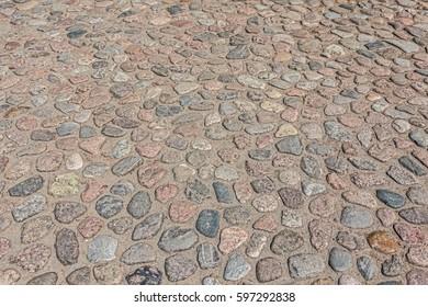 The stone pavement.