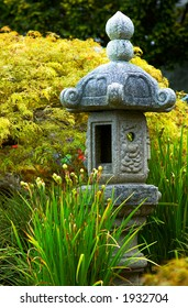 Stone Pavilion and flowers in Vancouver Queen Elizabeth Park. More with keyword group14h