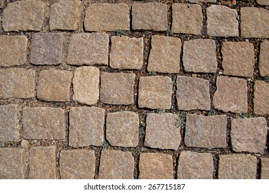 Stone paving texture. Abstract structured background - Shutterstock ID 267715187