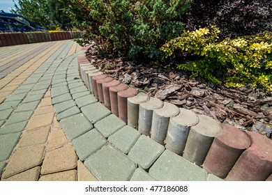 Stone paving texture. Abstract structured background - Shutterstock ID 477186088