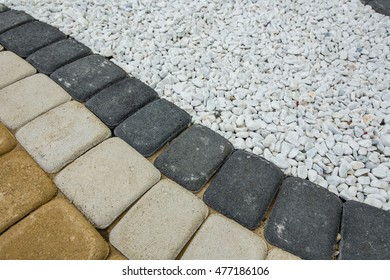 Stone paving texture. Abstract structured background - Shutterstock ID 477186106