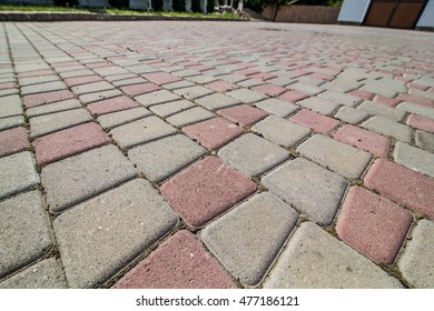 Stone paving texture. Abstract structured background - Shutterstock ID 477186121
