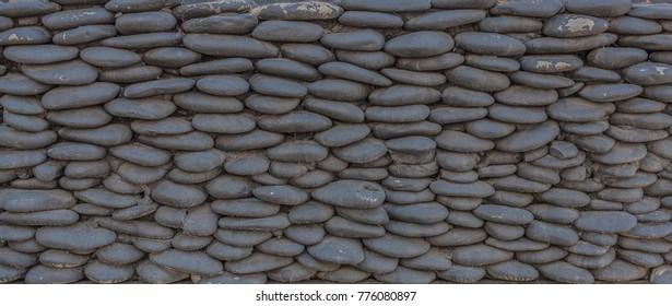 Stone pebbles wall