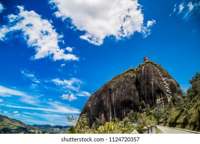 the stone of the peninsula tourist destination in Colombia