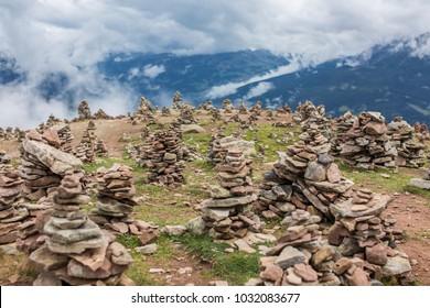 Stone People on the summit
