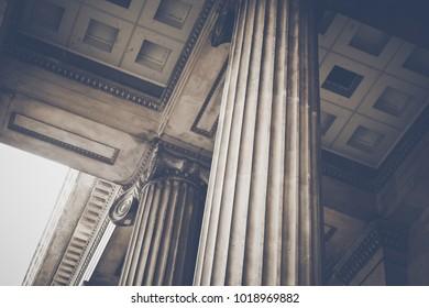 Stone Pillars in a Row
