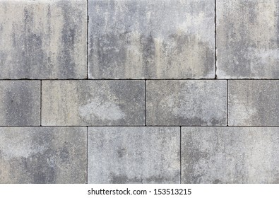 Stone plates on a sideway with seams