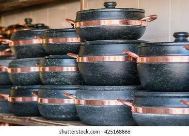stone pot / stone stewpot / stone pan