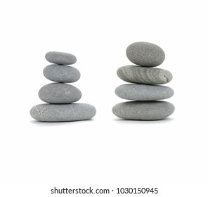 stone pyramid isolated on a white background