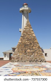 stone pyramid and lighthouse commemorating the lady Elizabeth after which the city is named.