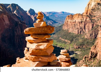 Stone pyramids in Zion National Park, Utah, United States