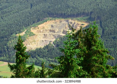 A stone quarry in the forest