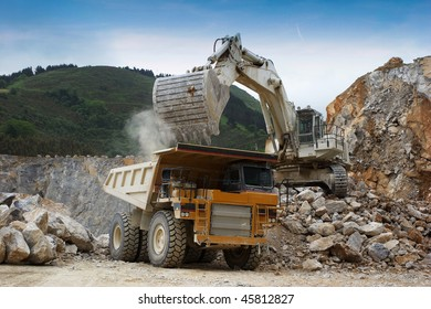 stone quarry in northern Spain
