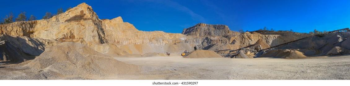Stone quarry in Serbia