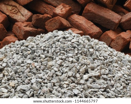 Stone Rubble Pale Crushed Stones Using Stock Photo (Edit Now