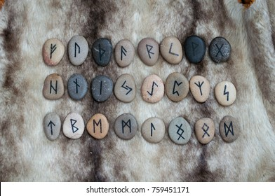 stone runes on the fur