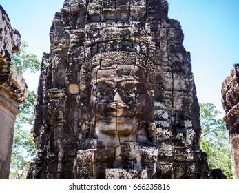 Stone Sculpture. Angkor Wat. Siem Reap. Cambodia.