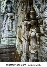 Stone Sculpture Apsara. Angkor Wat. Siem Reap. Cambodia.