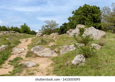 Stone sea near Szentbekkalla in the Kali basin, Hungary.