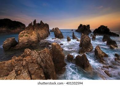 stone shark teeth Location Pegadung Beach Lampung Selatan