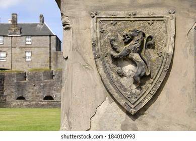 Stone shield, Stirling Castle, Scotland