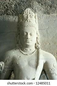 Stone Shiva head, India