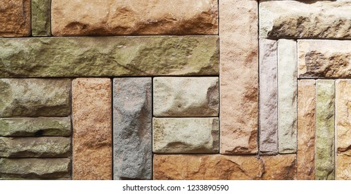 Stone slab with relief. Colored stone slabs. Stone for tile. Tile with  colored relief.
