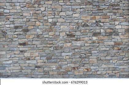 stone slate wall concrete grout